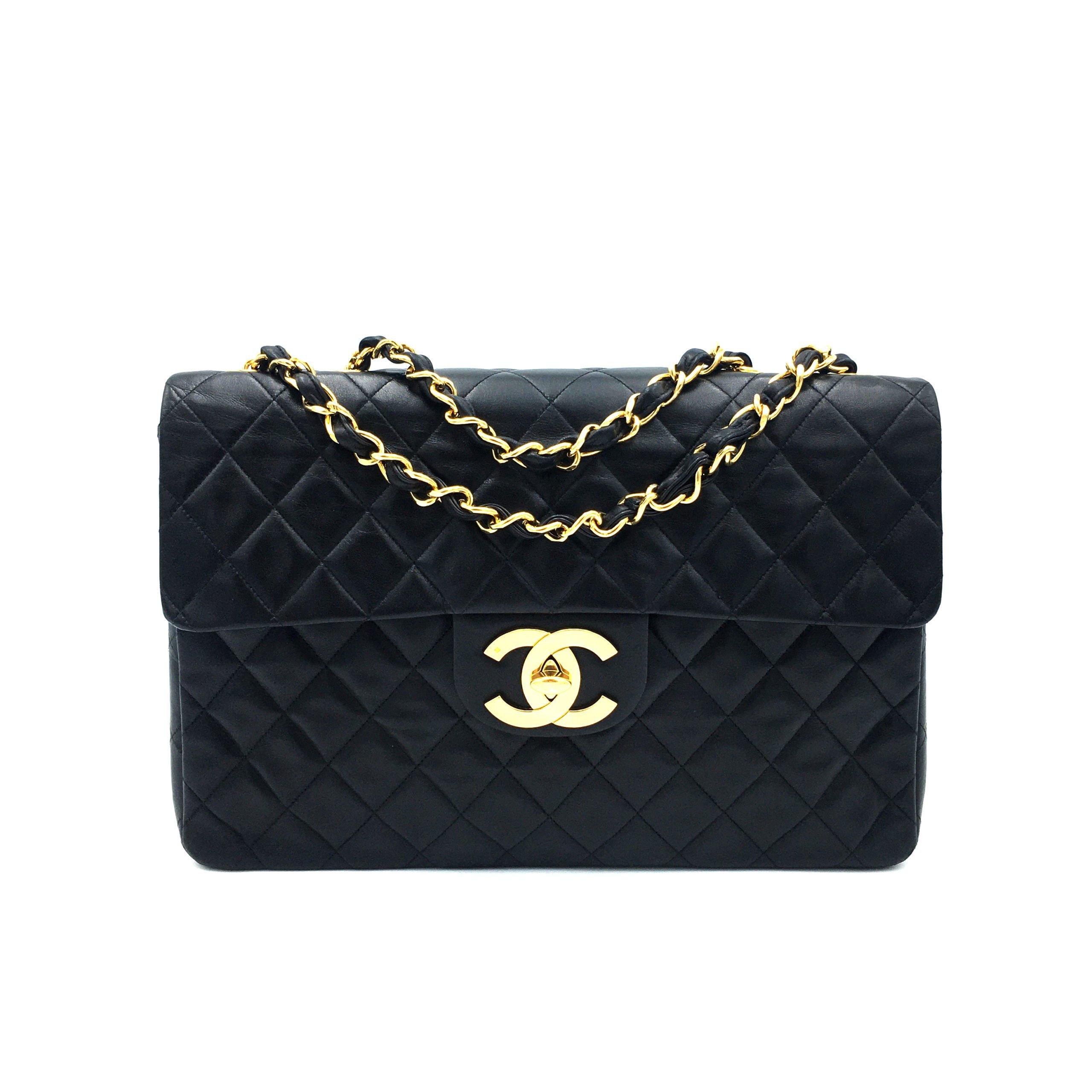 Borse Chanel Vintage Usate.Timeless Maxi Jumbo Big Logo Otto Vintage Borsa Chanel Maxi Jumbo