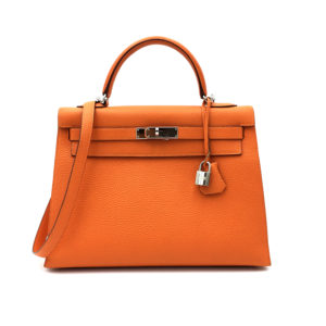 borsa-hermès-kelly-32-arancione-togo